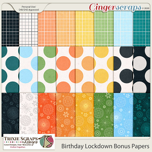 Birthday Lockdown Bonus Papers by Trixie Scraps Designs