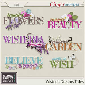 Wisteria Dreams Titles by Aimee Harrison