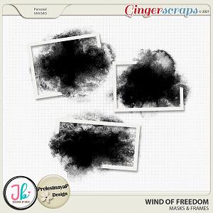 Wind Of Freedom Masks & Frames by JB Studio and PrelestnayaP Design