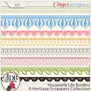 Housewife Life Borders by ADB Designs
