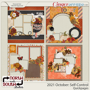 2021 October: Self-Control Quickpages by North Meets South Studios