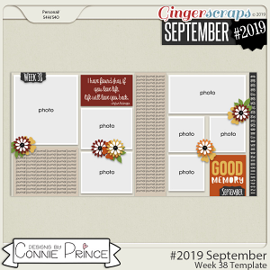 #2019 September - Week 38 Template Pack (CU Ok) by Connie Prince