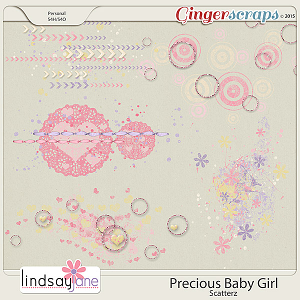 Precious Baby Girl Scatterz by Lindsay Jane
