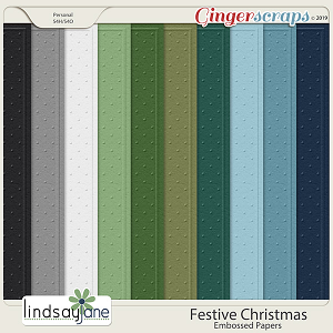 Festive Christmas Embossed Papers by Lindsay Jane