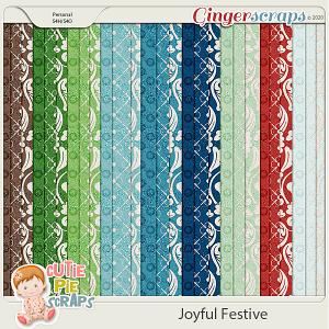 Joyful Festive Pattern Papers