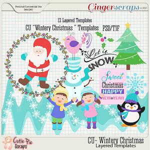 Wintery Christmas Layered Templates (CU)