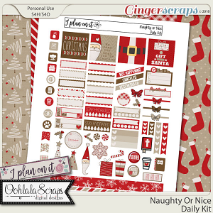 Naughty Or Nice Planner Stickers Daily Kit