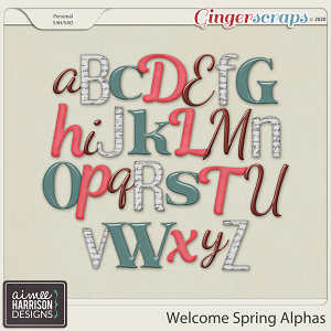 Welcome Spring Alpha Sets by Aimee Harrison
