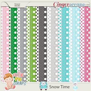 Snow Time Pattern Papers
