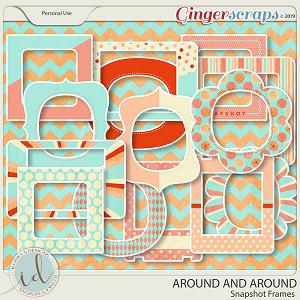 Around And Around Snapshot Frames by Ilonka's Designs