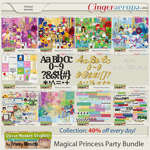 Magical Princess Party Bundle by Clever Monkey Graphics