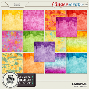 Carnival Artsy Papers by JB Studio and Aimee Harrison Designs
