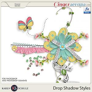 Drop Shadow Styles by Karen Schulz