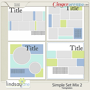 Simple Set Mix 2 Templates by Lindsay Jane