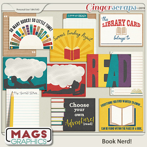 Book Nerd JOURNAL CARDS by MagsGraphics