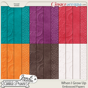 When I Grow Up - Embossed Papers
