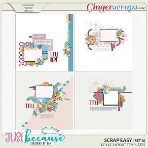 Scrap Easy 6 Templates by JB Studio