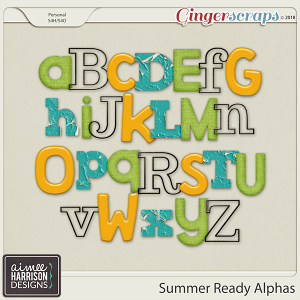 Summer Ready Alpha Sets by Aimee Harrison