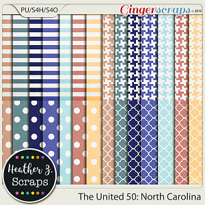 The United 50: North Carolina EXTRA PAPERS by Heather Z Scraps
