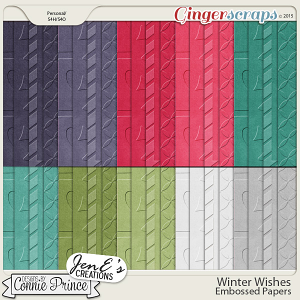 Winter Wishes - Embossed Papers