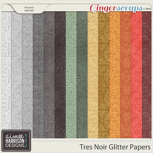 Très Noir Glitter Papers by Aimee Harrison