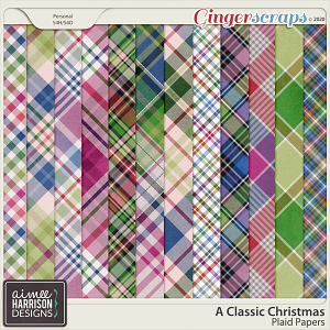 A Classic Christmas Plaid Papers by Aimee Harrison