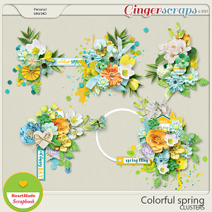 Colorful spring - clusters