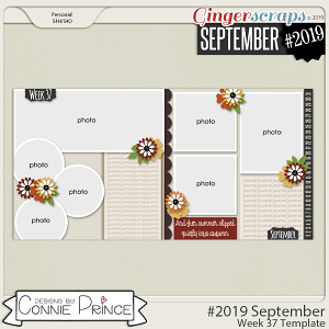 #2019 September - Week 37 Template Pack (CU Ok) by Connie Prince