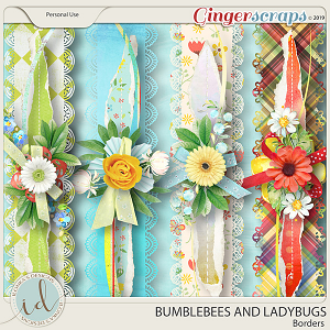Bumblebees And Ladybugs Borders by Ilonka's Designs