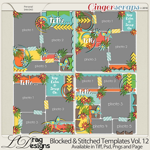 Blocked & Stitched Templates Vol.12 by LDrag Designs