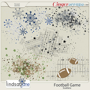 Football Game Scatterz by Lindsay Jane