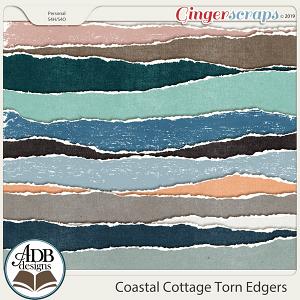 Coastal Cottage Torn Edge Borders by ADB Designs