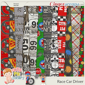 Race Car Driver Wood Papers
