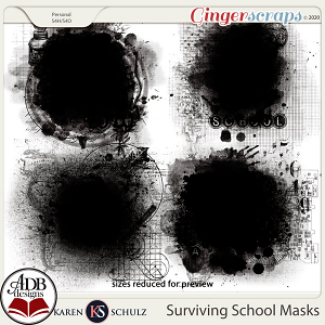 Surviving School Masks by Karen Schulz and ADB Designs