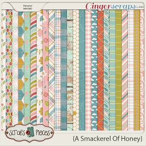 A Smackerel of Honey Papers - Scraps N Pieces