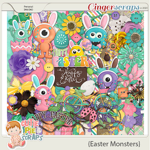 Easter Monsters Page Kit
