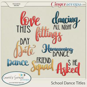 School Dance Titles