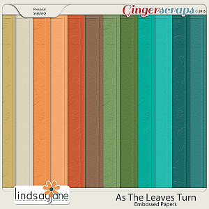 As The Leaves Turn Embossed Papers by Lindsay Jane