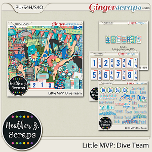 Little MVP: Dive Team BUNDLE by Heather Z Scraps