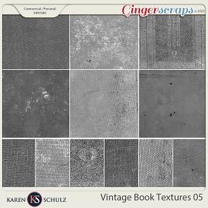 Vintage Book Textures 05 by Karen Schulz