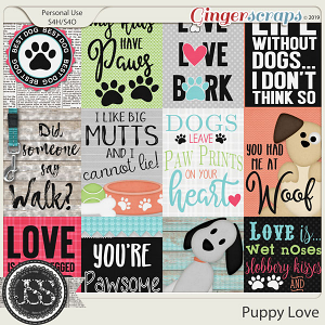 Puppy Love Pocket Scrap Cards