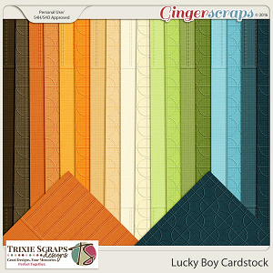 Lucky Boy Cardstock by Trixie Scraps Designs