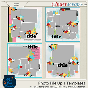 Photo Pile Up 1 Templates by Miss Fish
