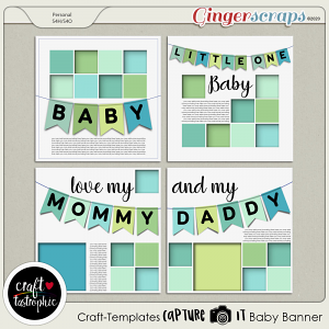 Craft ❤ Templates Capture It Baby Banner