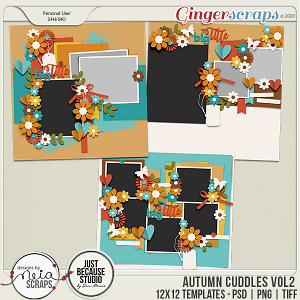 Autumn Cuddles - Templates VOL 2 - by Neia Scraps and JB Studio