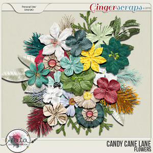 Candy Cane Lane - Flowers - by Neia Scraps