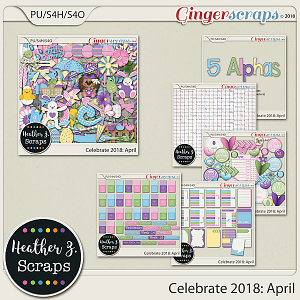 Celebrate 2018: April BUNDLE by Heather Z Scraps