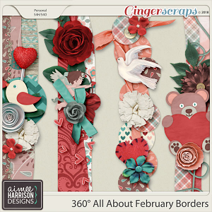 360°Life All About February Borders by Aimee Harrison