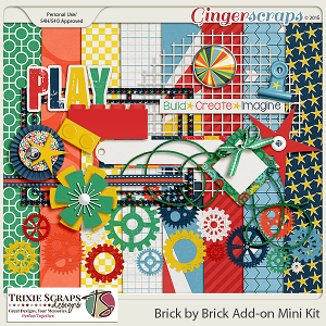 Brick by Brick Add-on Mini Kit by Trixie Scraps Designs