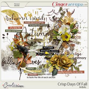Crisp Days Of Fall-Artbits&word art